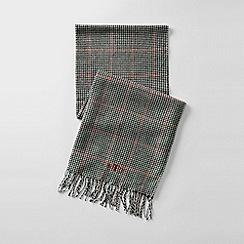 Lands' End - Black men's cashtouch plaid scarf
