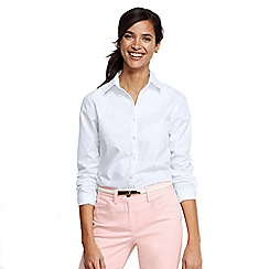 Lands' End - White women's plain supima non-iron shirt