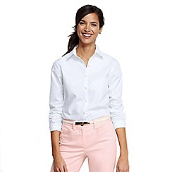 Lands' End - White petite plain supima non-iron shirt