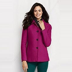 Lands' End - Purple women's boiled wool jacket