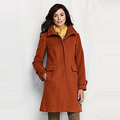 Lands' End - Orange women's luxe wool walker coat