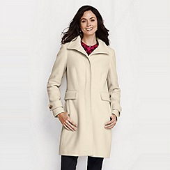 Lands' End - White women's luxe wool walker coat