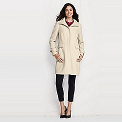 Lands' End - White petite luxe wool walker coat