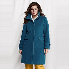 Lands' End - women's plus luxe wool walker coat