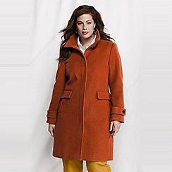 Lands' End - Orange women's plus luxe wool walker coat