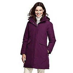 Lands' End - Purple down commuter coat