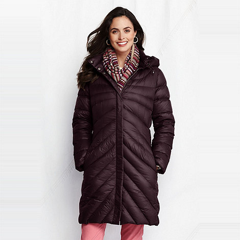 Lands+ End - women+s featherlight down coat