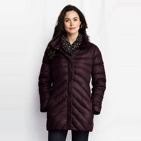 Lands' End - women's petite featherlight down parka