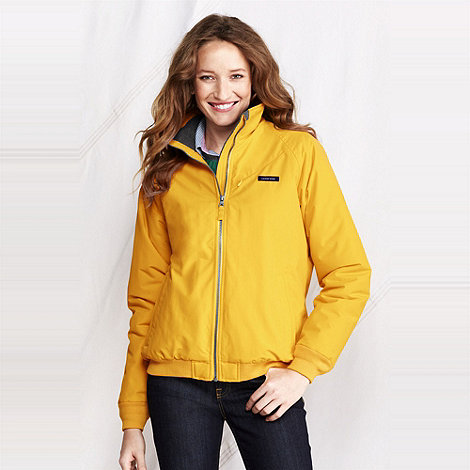 Lands+ End - Yellow women+s classic squall jacket