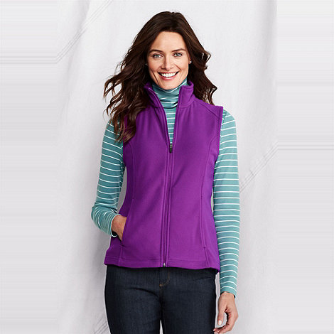Lands+ End - Purple women+s polartec aircore 100 gilet