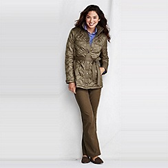 Lands' End - Green women's quilted insulator parka