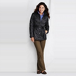 Lands' End - Black women's quilted insulator parka