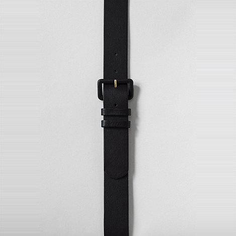 Lands+ End - Black women+s sleek leather dress belt