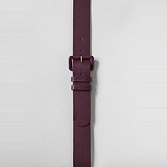 Lands' End - Purple women's sleek leather dress belt