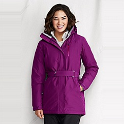 Lands' End - Purple women's waterproof down parka