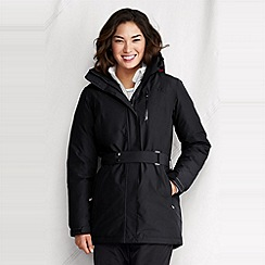 Lands' End - Black women's waterproof down parka
