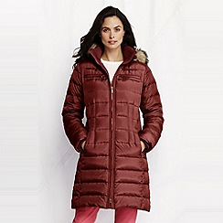 Lands' End - Brown women's shimmer down coat -tall