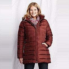 Lands' End - Brown women's plus shimmer down coat