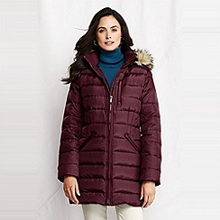 Lands' End - women's shimmer down parka