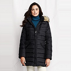 Lands' End - Black women's shimmer down parka