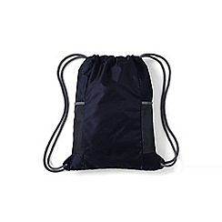 Lands' End - Kids' blue packable drawstring bag