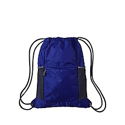 Lands' End - Blue kids' packable drawstring bag
