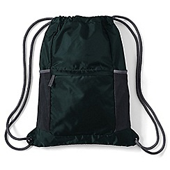 Lands' End - Green kids' packable drawstring bag