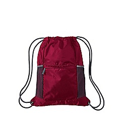 Lands' End - Red kids' packable drawstring bag