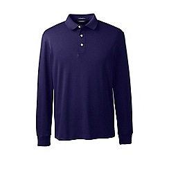 Lands' End - Blue long sleeve supima polo