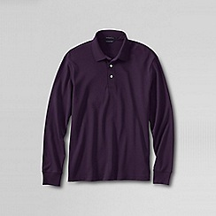 Lands' End - Purple men's long sleeve supima polo