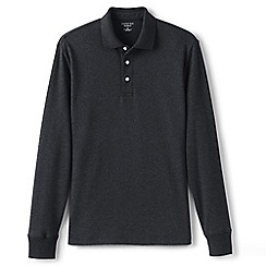 Lands' End - Grey long sleeve supima polo