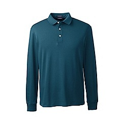 Lands' End - Dark blue long sleeve supima polo