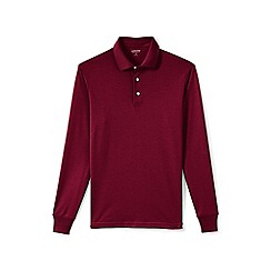 Lands' End - Red long sleeve supima rugby shirt