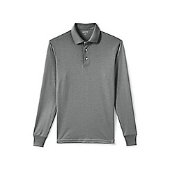 Lands' End - Grey long sleeve supima rugby shirt