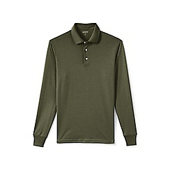 Lands' End - Green long sleeve supima rugby shirt
