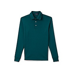 Lands' End - Green long sleeve tailored fit supima polo
