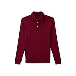 Lands' End - Red long sleeve tailored fit supima rugby shirt
