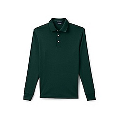 Lands' End - Green long sleeve tailored fit supima rugby shirt