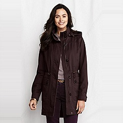 Lands' End - Brown women's transitional cotton long parka