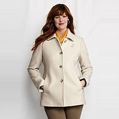 Lands' End - women's plus boiled wool jacket