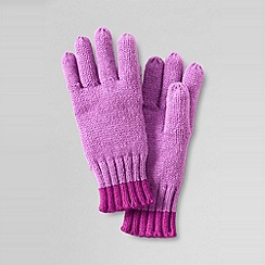 Lands' End - Girls' spot and stripe gloves
