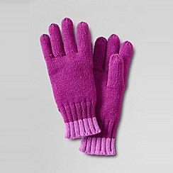 Lands' End - Girls' spot and stripe gloves