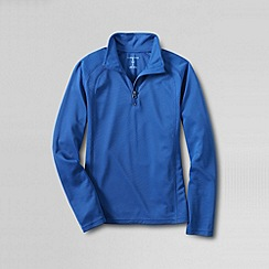 Lands' End - Blue boys' thermskin heat half zip top