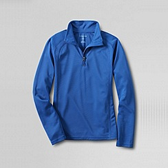 Lands' End - Blue little boys' thermskin heat half zip top