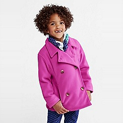 Lands' End - Purple girls' thermacheck-200 fleece pea coat