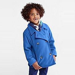 Lands' End - Blue girls' thermacheck-200 fleece pea coat