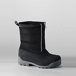 Lands' End - Black kids' snow plough boots