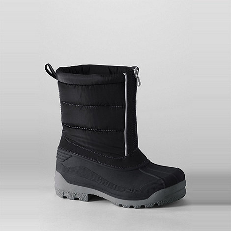 Lands+ End - Black kids+ snow plough boots