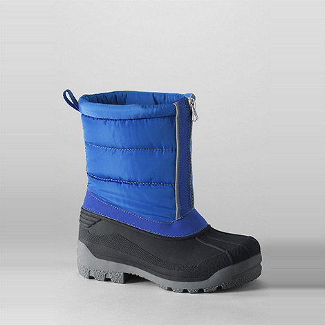 Lands+ End - Blue kids+ snow plough boots