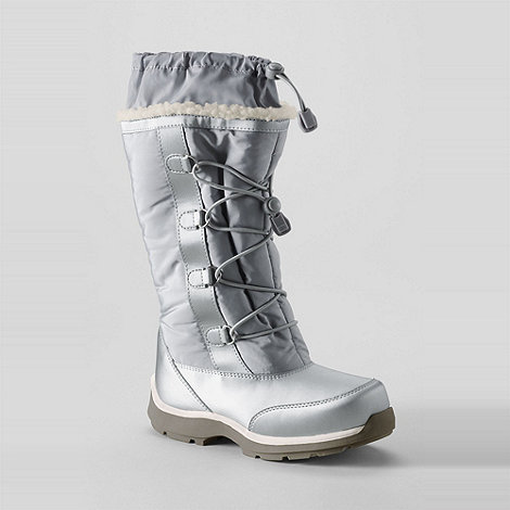 Lands+ End - Grey girls+ snowflake boots